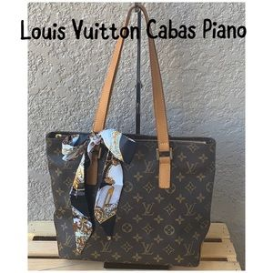 🍁Louis Vuitton Cabas Piano Monogram Tote Bag MM